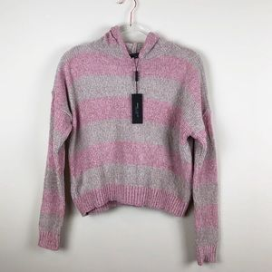 Romeo + Juliet Couture Striped Chenille Hoodie M